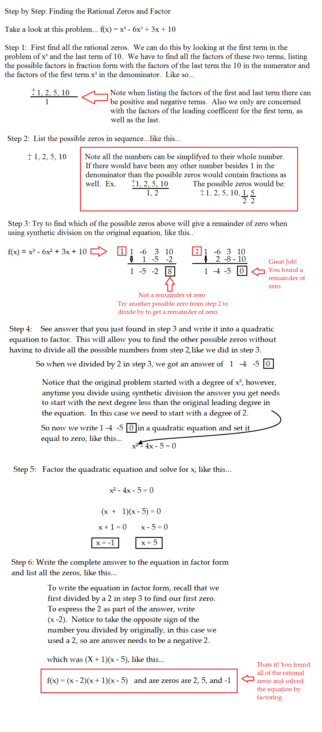 How To Factor And Find Zeros Solution For How To For Dummies How To Factor  Two